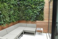 Small courtyard garden with seating area design and layout 65