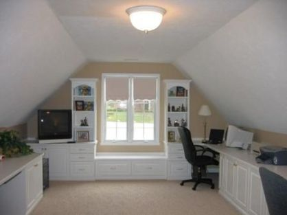 Awesome Built In Cabinet and Desk for Home Office Inspirations 30
