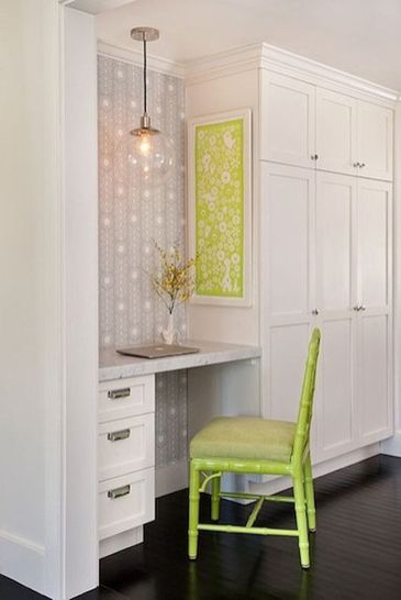 Awesome Built In Cabinet and Desk for Home Office Inspirations 40