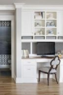 Awesome Built In Cabinet and Desk for Home Office Inspirations 46