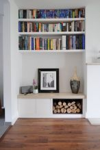 Brilliant Built In Shelves Ideas for Living Room 25