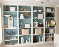 Brilliant Built In Shelves Ideas for Living Room 30