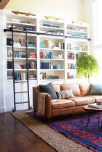 Brilliant Built In Shelves Ideas for Living Room 37