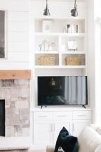 Brilliant Built In Shelves Ideas for Living Room 53