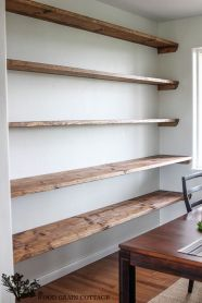 Brilliant Built In Shelves Ideas for Living Room 54