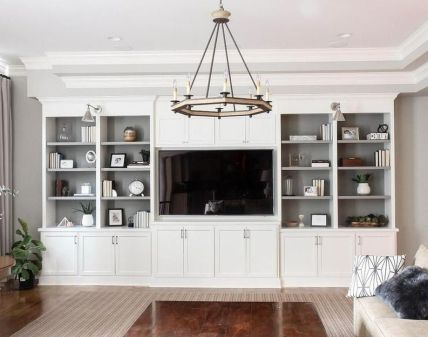 Brilliant Built In Shelves Ideas for Living Room 61