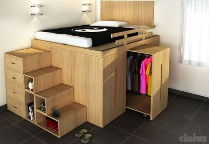 Cool Loft Bed Design Ideas for Small Room 13