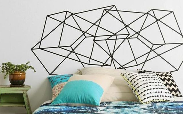Creative DIY Tape Mural for Wall Decor
