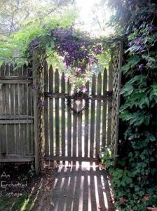 Fascinating Garden Gates and Fence Design Ideas 34