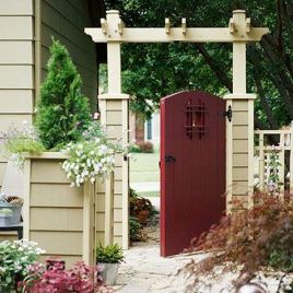 Fascinating Garden Gates and Fence Design Ideas 48