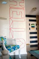 Inspiring Creative DIY Tape Mural for Wall Decor 46