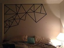 Inspiring Creative DIY Tape Mural for Wall Decor 57