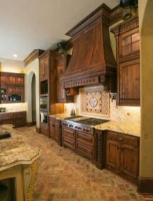 Amazing Brick Floor Kitchen Design Inspirations 6