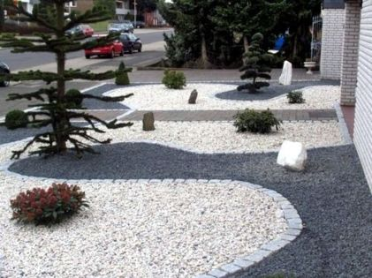 Modern and Contemporary Front Yard Landscaping Ideas 45