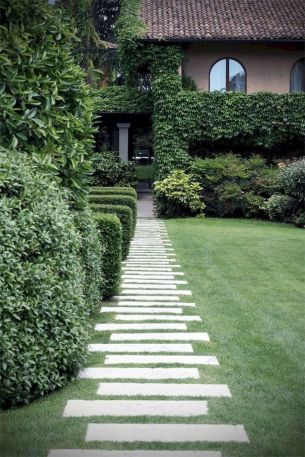 Modern and Contemporary Front Yard Landscaping Ideas 50