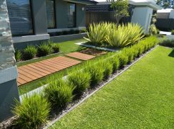 Modern and Contemporary Front Yard Landscaping Ideas 86