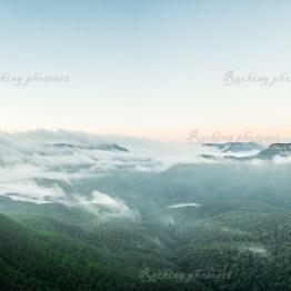 Sunrise over the Tree Sisters, Katoomba, Blue Mountains