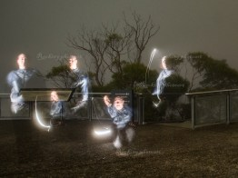 Having fun in Blue Mountains with light