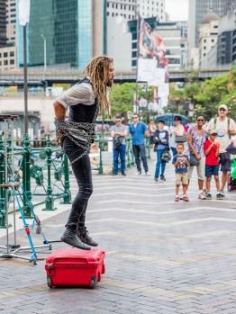Performance in Cirqular quay, Sydney