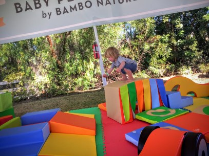 jumping around on The Mobile Play Space LA at Fall Fest 2015