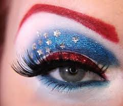 fourth of july, independence day, makeup ideas, eye make up ideas for fourth of july