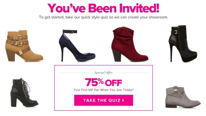 shopping club, perks, special offer, discount code, shoe dazzle discount code