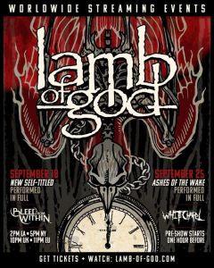 "Lamb Of God en streaming presentando su disco ""Ashes of the Wake"""