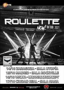 Roulette nuevas fechas de la Gira en octubre de 2021