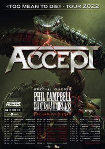 Accept anuncia gira europea - En Espana en enero 2021