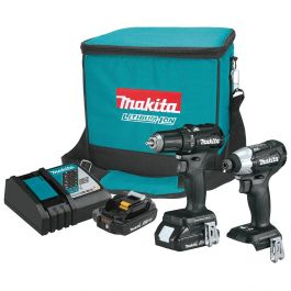 Makita CX200RB 2.0Ah 18V LXT Lithium-Ion Sub-Compact Brushless Cordless 2-Piece Combo Kit