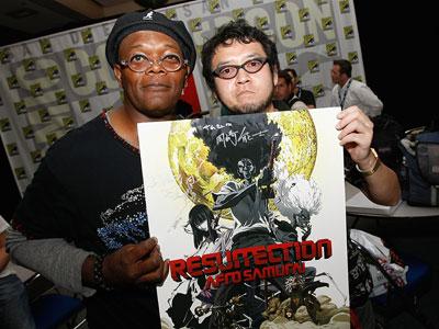 Samuel L. Jackson e o Criador de Afro Samurai, Takashi Okazaki