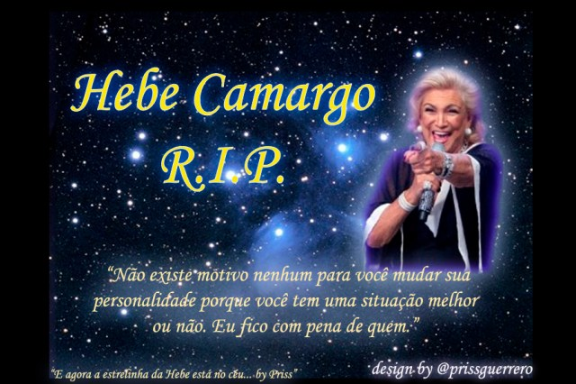 Homenagem do Rock Me ON para Hebe Camargo.