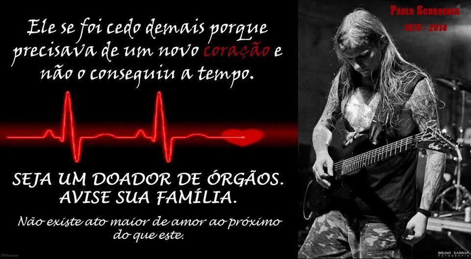 Campanha promovida pela Família de Paulo Schroeber. Rock Me ON apóia!