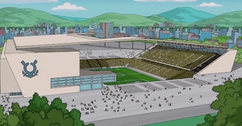 Arena Corinthians: pelo menos nos Simpsons ela está pronta!