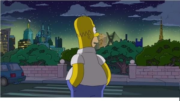 Homer apreciando a paisagem compactada de São Paulo!