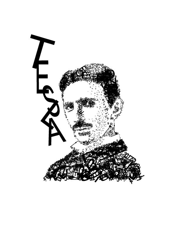 Nikola Tesla - Arte Tipográfica