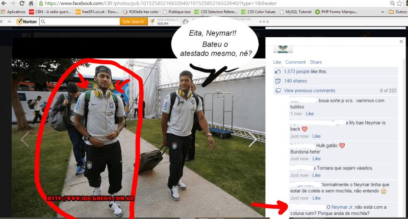 Não é montagem, é uma mochila nas costas do Neymar!
