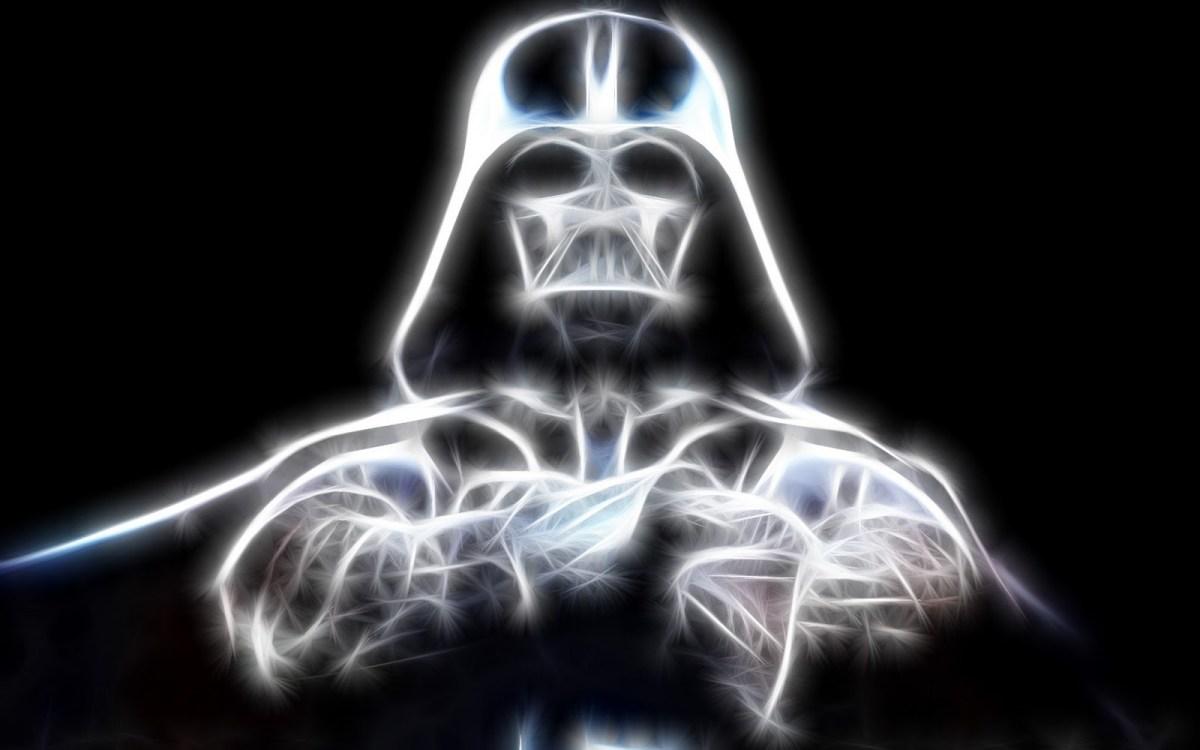 Usei essa imagem do Vader, estilizada que encontrei na internet. Não sei quem é o autor, mas ela é muito legal.