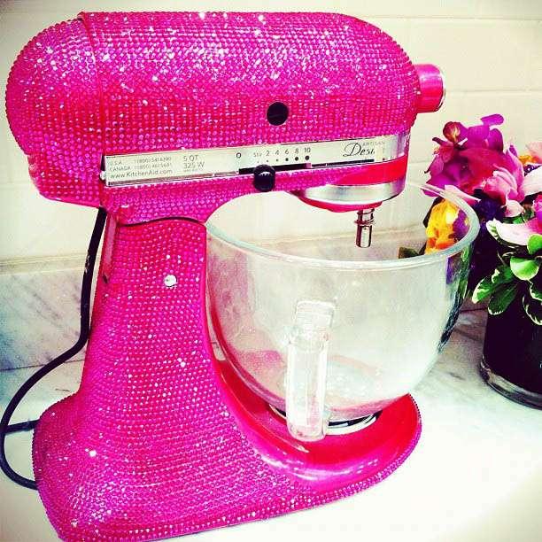 Swarovski Crystal Pink Glitter Kitchen Aid