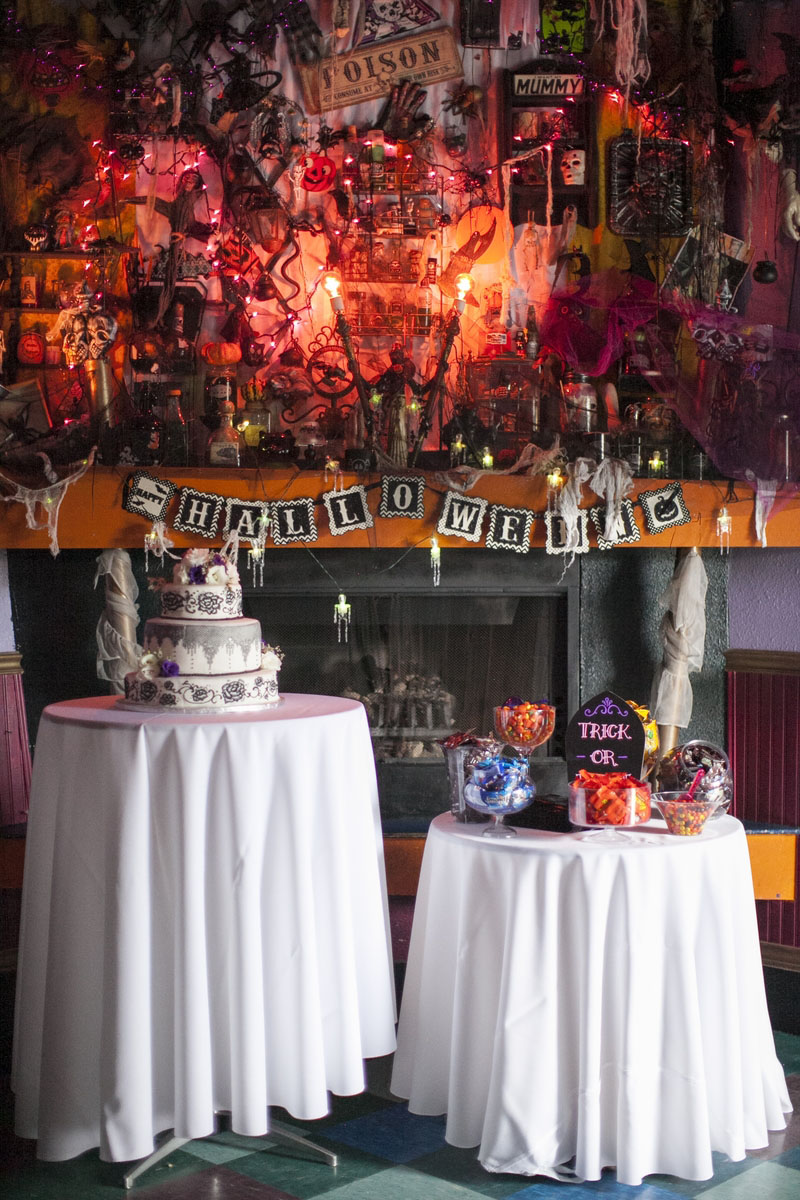 Halloween And Music Themed Wedding At A Rock Club Rock N Roll Bride