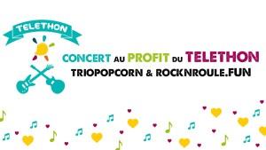 affiche téléthon groupe de musique TrioPopcorn