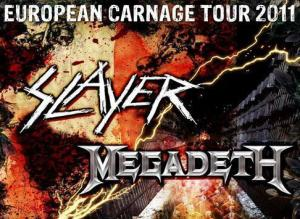 European Carnage Tour - Slayer in Megadeth v Zagrebu