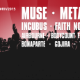 Poleg Muse, Faith No More, Metallice, Incubus ... na festival prihajajo tudi Airbourne, Triggerfinger, Within Temptation, Gojira, Bonaparte in Saint Vitus.