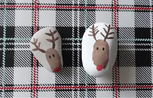 reindeerpaintedrock