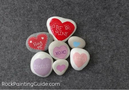 sweetheart painted rocks