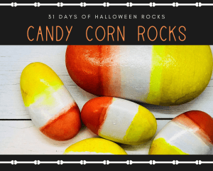 candy corn rocks