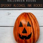 halloween alcohol ink rocks - Halloween Rock Painting Ideas (Alcohol Inks Edition)