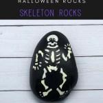 skeleton rocks pin - Easy Halloween Skeleton Rock Painting