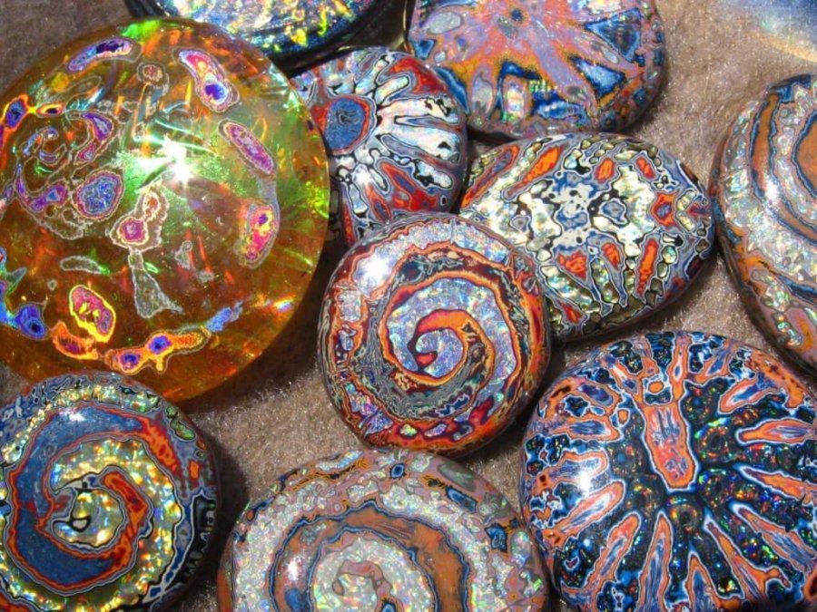 alien opal rocks