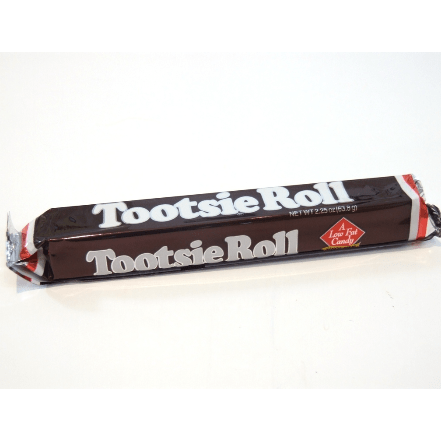 Image of a large tootsie roll. Soft, chewy and delicious.
